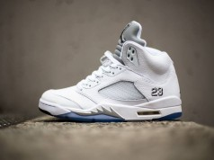 Air Jordan 5 V Retro White Metallic Silver 2015