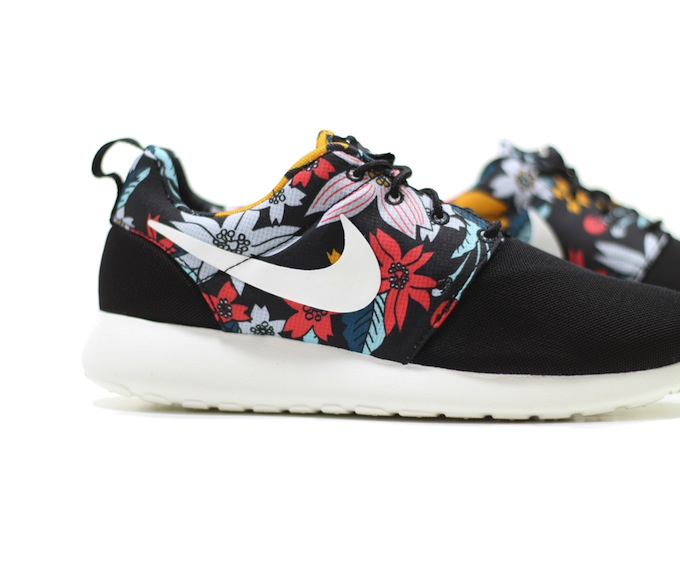 Uk Nike Roshe Women - Authentic Nike Roshe Run Women S Olympic Shoes Coal Black Grey White Club Nike Discount