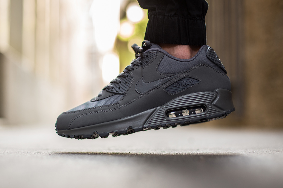 nike air max 90 black leather cheap