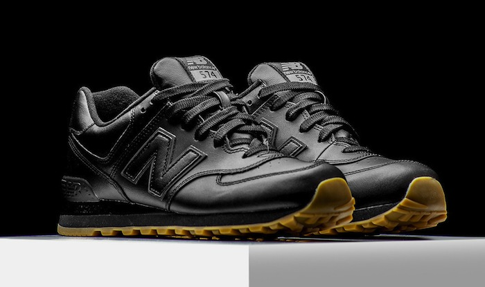 new balance 574 black gum