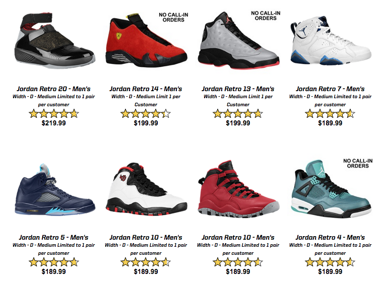 Jordan Retro  Shoes Eastbay