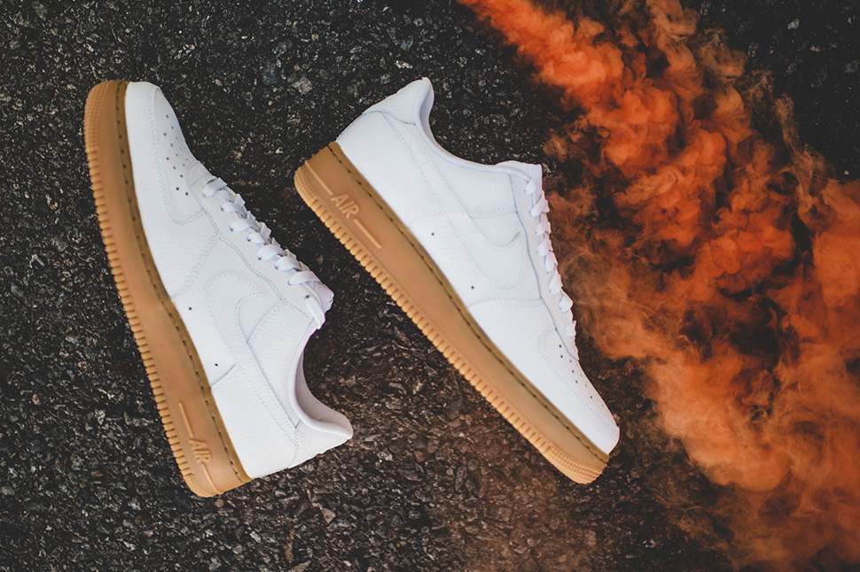White Gum Nike Air Force 1 Low