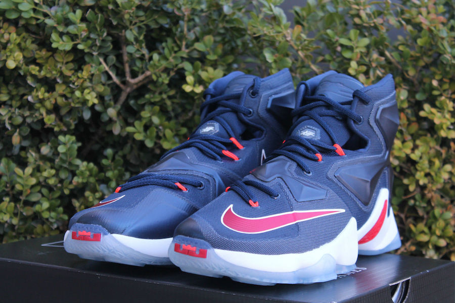 Nike LeBron 13 USA Navy Red White
