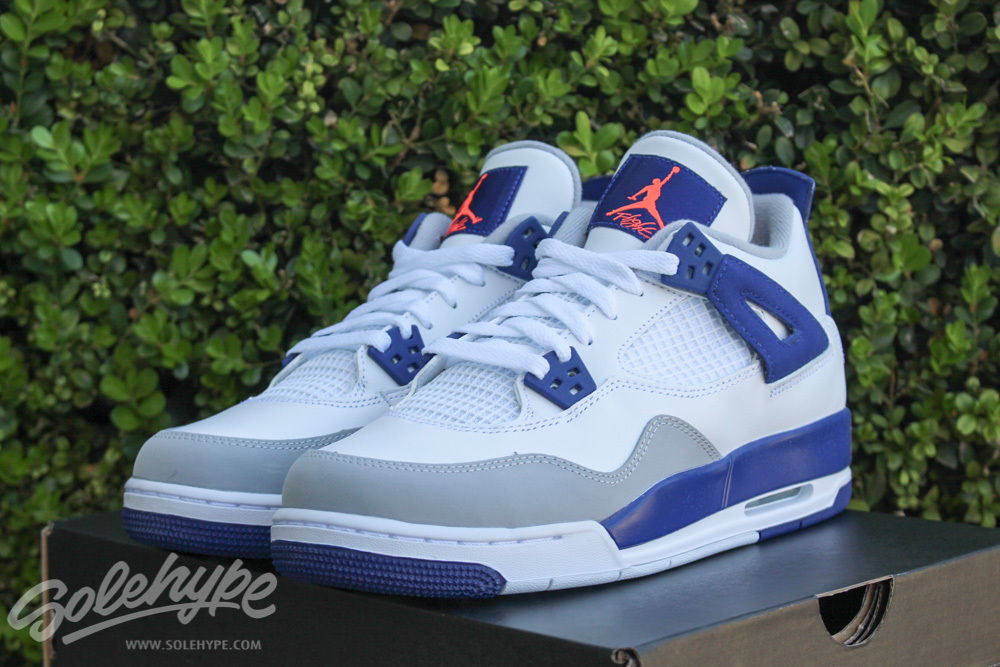 Air Jordan 4 GS Royal Blue Hype Orange