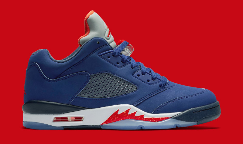 Knicks Air Jordan 5 Low Retro Deep Royal