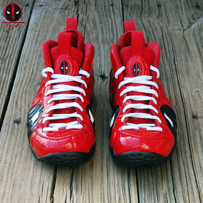 Deadpool Nike Air Foamposite One Custom