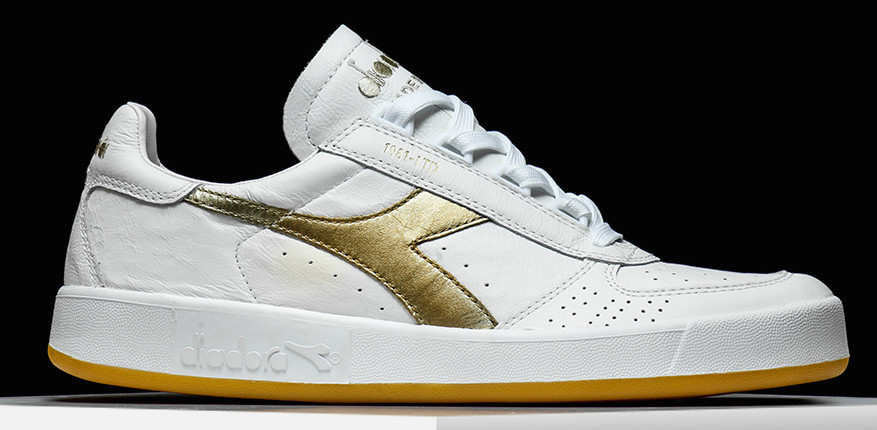 Diadora B Elite OG Made in Italy 1981 LTD Silver Gold Pack