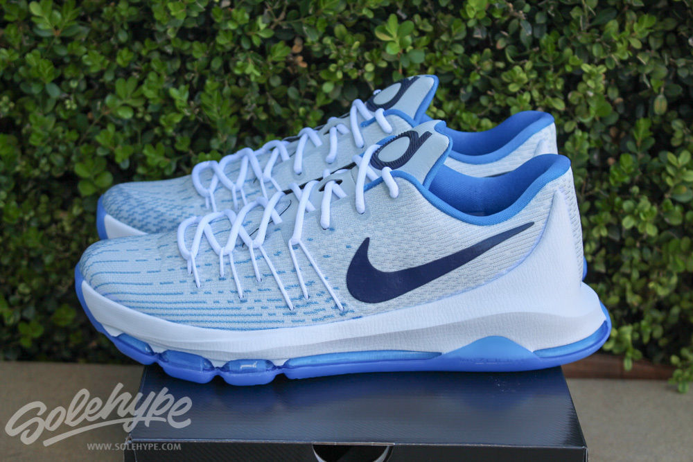 Nike KD 8 Home White Midnight Navy Photo Blue