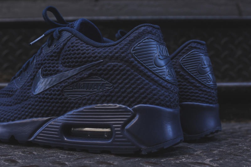 huge discount 2cfe9 1f8f6 The Nike Air Max 90 Ultra BR 8220 Triple Black and 8220 Triple Navy Are  Available
