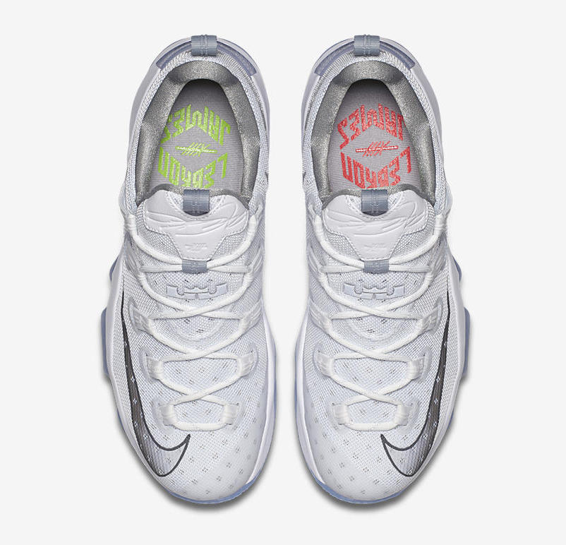 Nike LeBron 13 Low Metallic Silver High Velocity