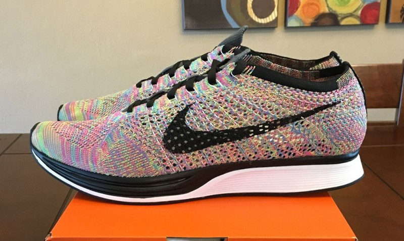 of the ��Multicolor 2016�� Nike Flyknit Racer that drops this May