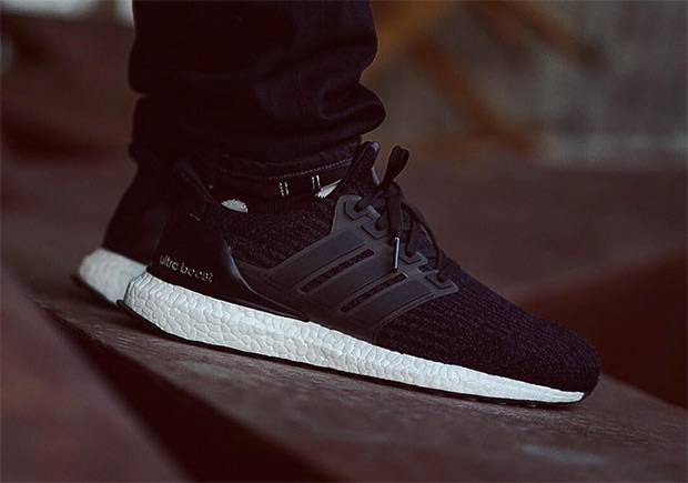 2b5230f54 low-cost How the adidas Ultra Boost 3.0 8220 Core Black Looks On Feet