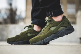 "How the Nike Air Huarache SE ""Legion Green"" Looks On-Feet"
