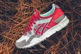 ASICS Gel Lyte V in Carbon and Red