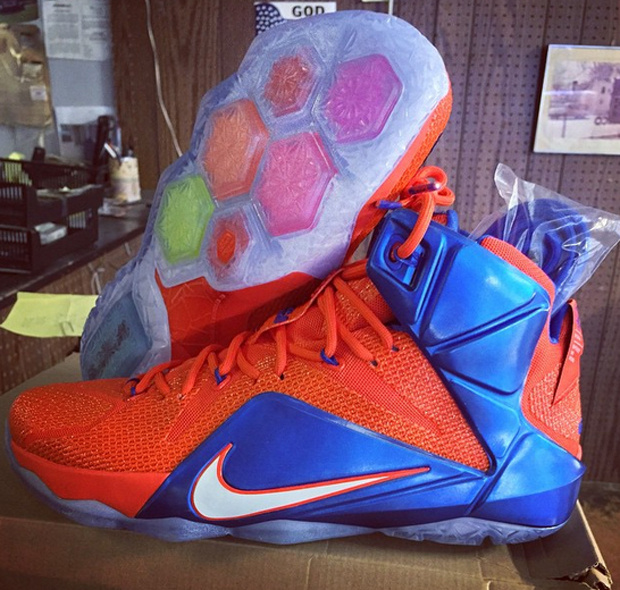 fed3841f4b2eb3 Nike LeBron 12 Florida Gators PE - Sneaker Bar Detroit