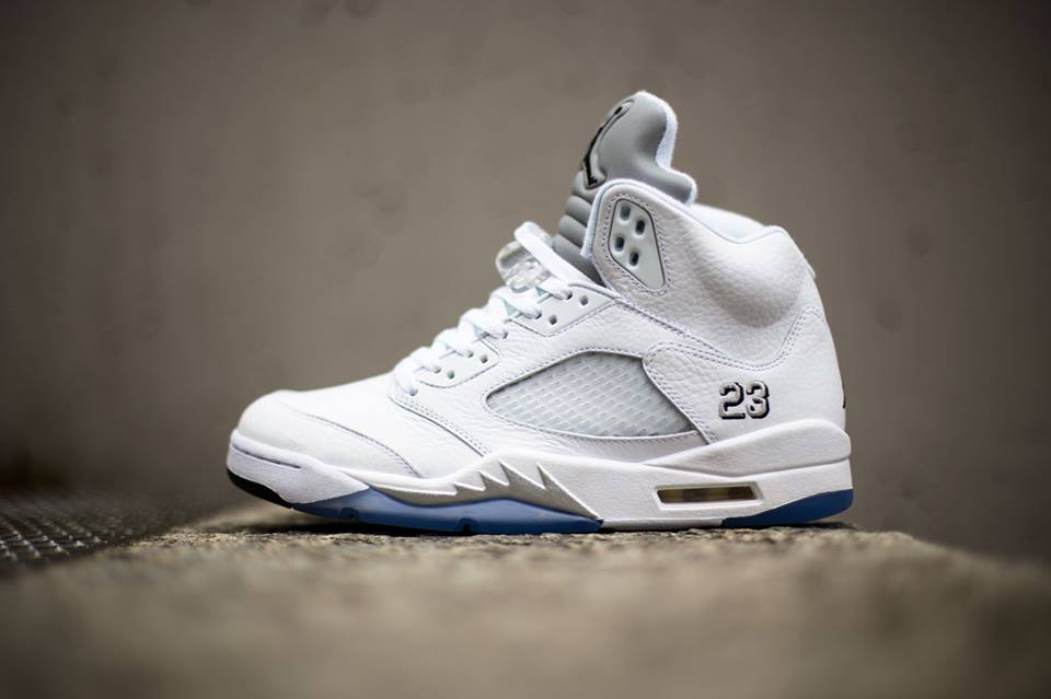 ab5801b1202 Air Jordan 5 White/Metallic Silver 2015 Remastered