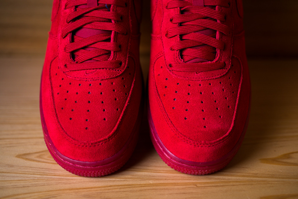 low priced 4c260 309d3 Nike Air Force 1 Low Red Suede
