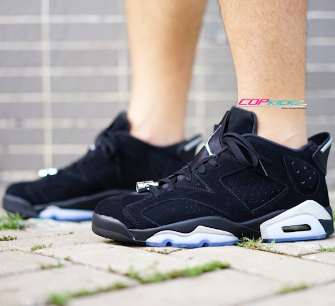 Air Jordan 6 Low Black Chrome Metallic Silver 2015