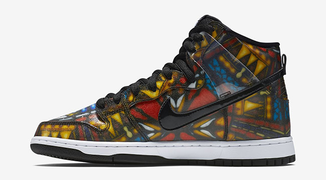 Concepts Nike Sb Dunk High Stained Glass Sneaker Bar Detroit