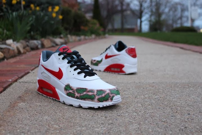 Nike Air Max 90 Cheech and Chong Custom Sneaker Bar Detroit