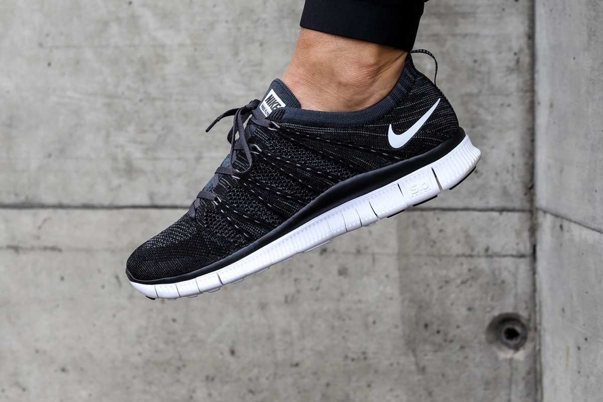 0a414795d993b Nike Free Flyknit NSW Black White - Sneaker Bar Detroit