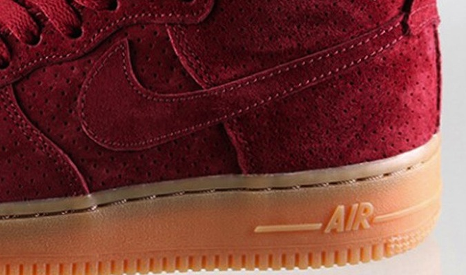"size 40 0096a 315e5 Nike Air Force 1 High ""Red Suede"""