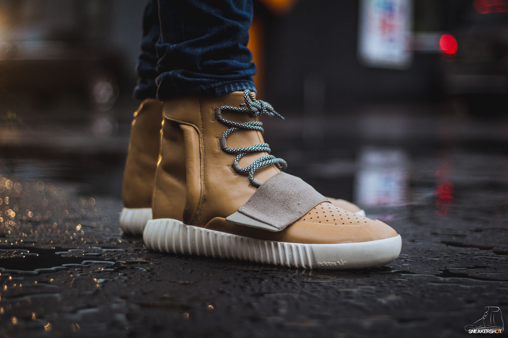 0ef8bbd85dda5 adidas Yeezy 750 Boost Tan Net Custom - Sneaker Bar Detroit