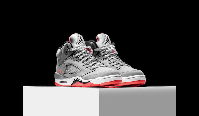 separation shoes 34e5c e2025 Air Jordan 5 GS Wolf Grey Black Hot Lava - Sneaker Bar Detroit