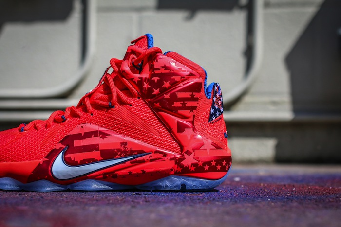 fc0d35c0e873 Nike LeBron XII 12 USA 4th of July Release Date June 27th