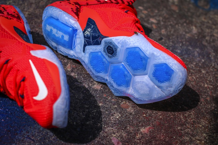 2ec046ca4144 Nike LeBron XII 12 USA 4th of July Release Date June 27th