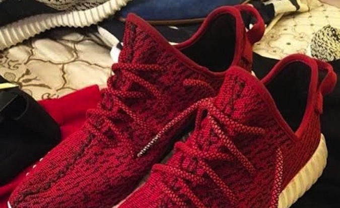 premium selection 91da3 90d7f Diddy adidas Yeezy Boost 350 Red Custom - Sneaker Bar Detroit