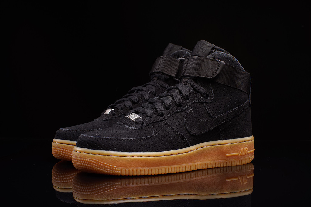 nike air force 1 high black suede gum sneaker bar detroit. Black Bedroom Furniture Sets. Home Design Ideas