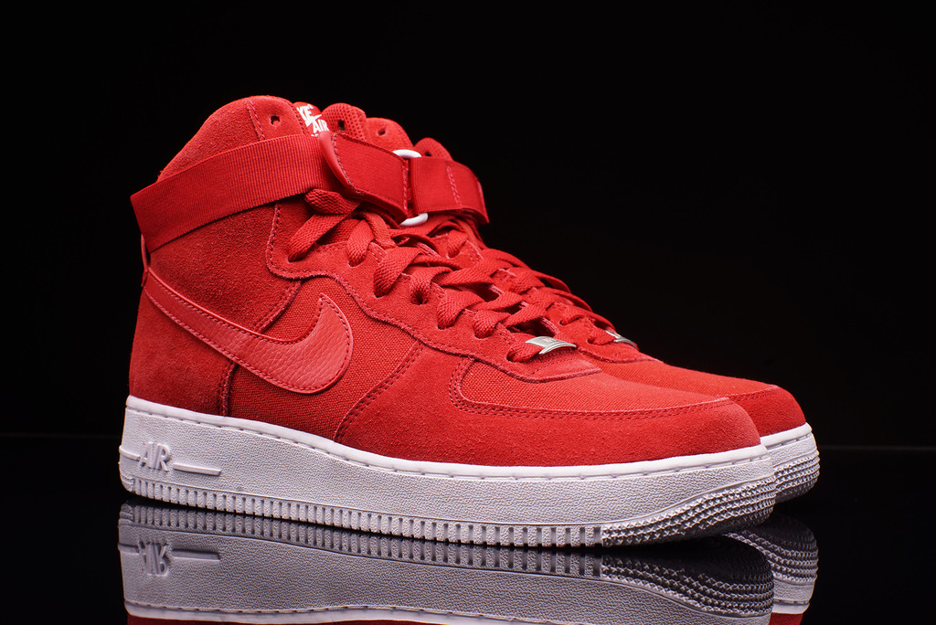 red nike air force 1 shoes