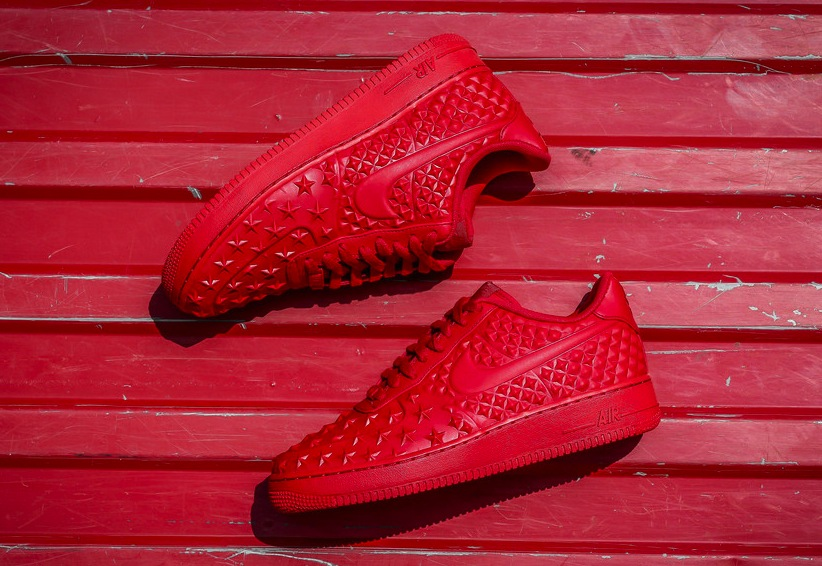 check out 6ae74 95584 Nike Air Force 1 LV8 VT Stars Red