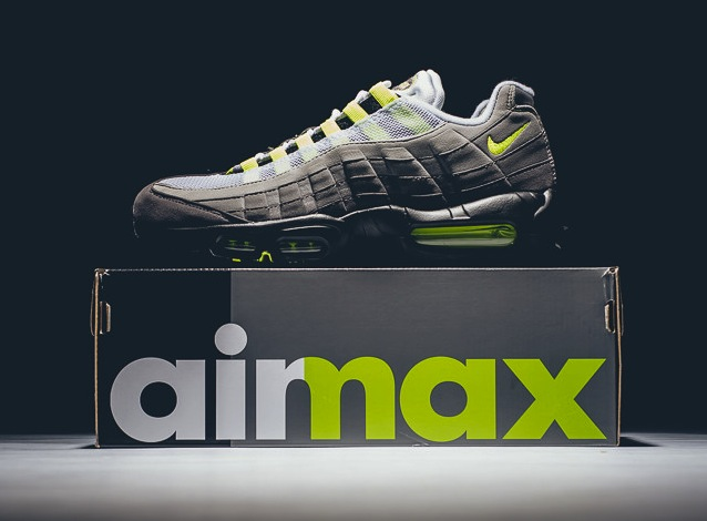 huge discount c8c4e 1b6d6 Nike Air Max 95 Neon OG Black Volt