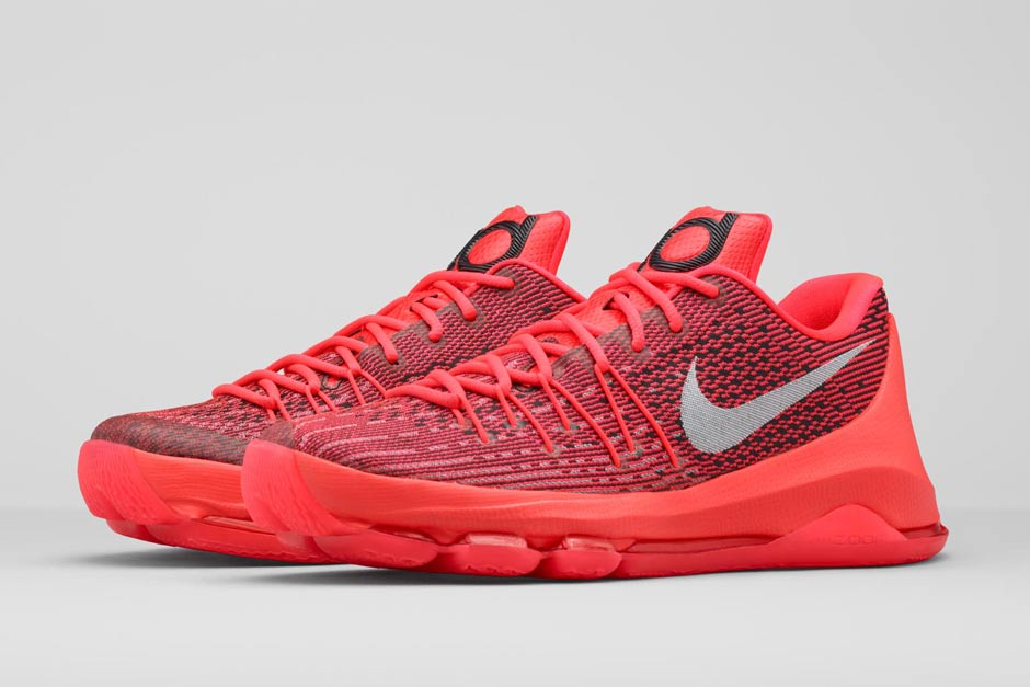 Nike KD 8 V 8 Bright Crimson Full Family Size Run