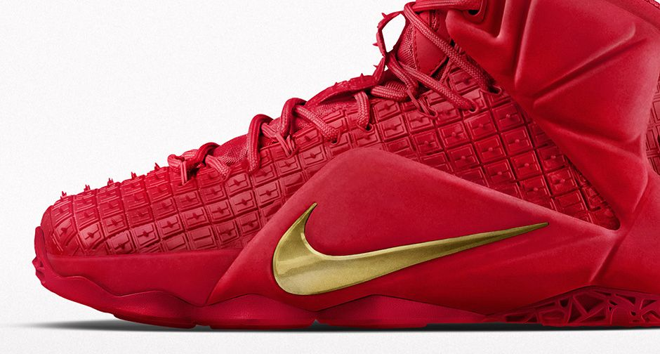 dbf06c3547044 2015 Nike LeBron 12 Red Rubber City