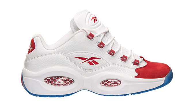 Reebok Question Low OG Nubuck White Red
