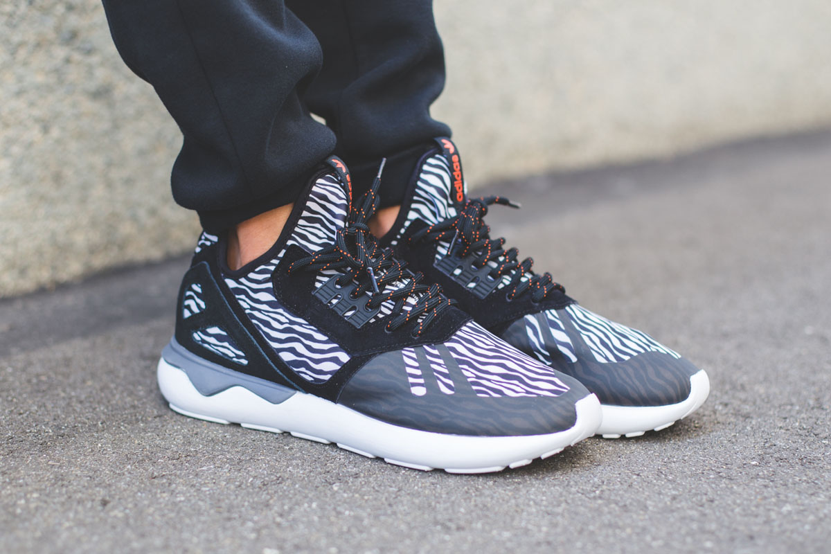 adidas Tubular Runner Weave Black White