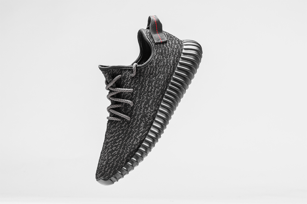 Black adidas Yeezy 350 Boost