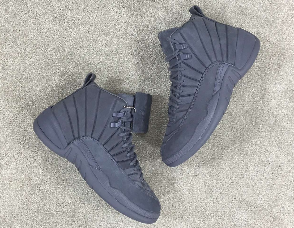 Public School PSNY Air Jordan 12 Dark Grey Black