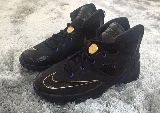 LeBron 13 Black Purple Gold