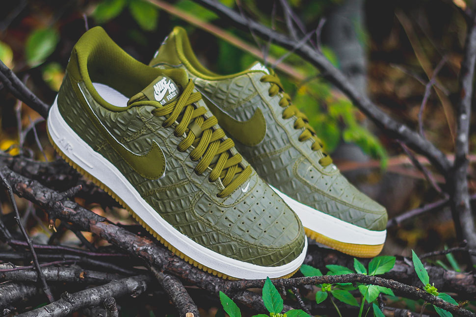 Nike Air Force 1 Low Militia Green Croc - Sneaker Bar Detroit 900db7807