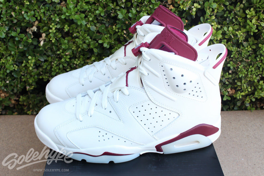 jordan retro 6 off white and maroon