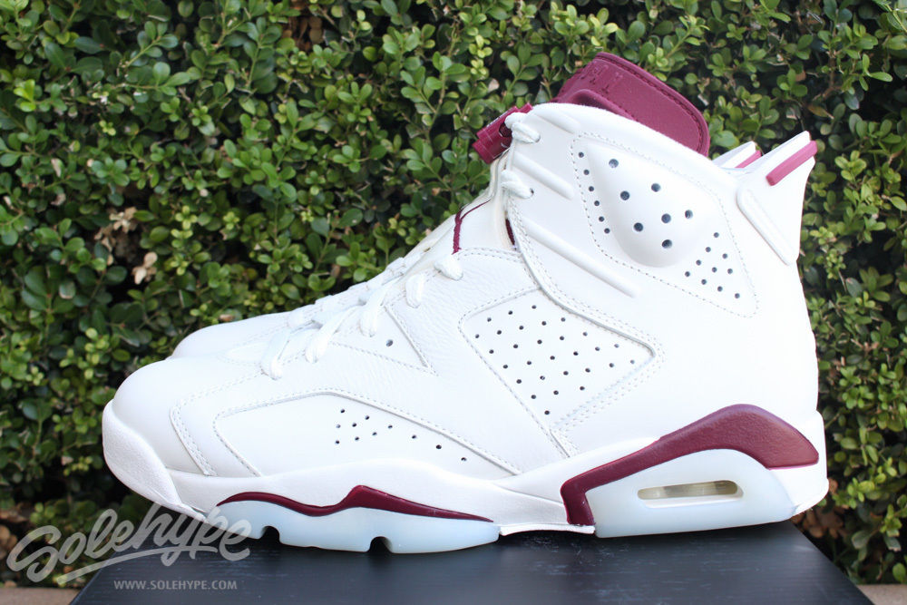 jordan 6 off white new maroon