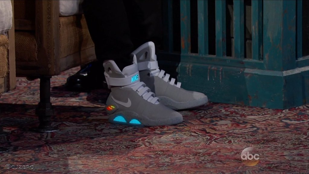 newest 7b57e aafb1 Michael J Fox Power Laces Nike MAG Jimmy Kimmel