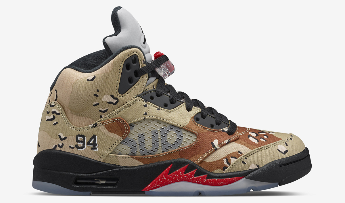 Air Jordan Retro 5 X Camouflage Suprême collections vente Boutique Best-seller commercialisable JPwkY7MA