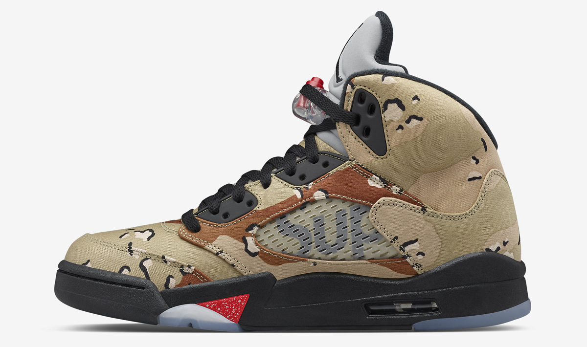 huge selection of 19678 f2b2c Supreme Air Jordan 5 Camo - Sneaker Bar Detroit