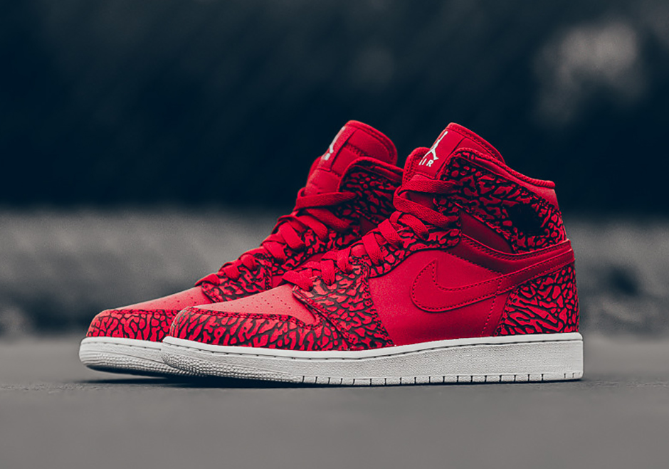 e1034fd26ee Air Jordan 1 Red Elephant Print - Sneaker Bar Detroit