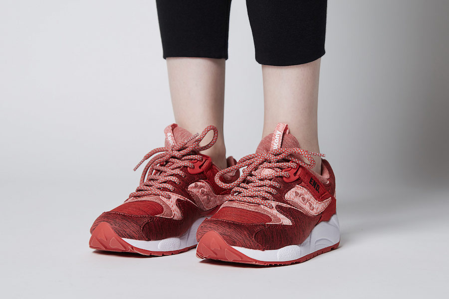 c9bc08b690e8 END Saucony Grid 9000 Red Noise - Sneaker Bar Detroit